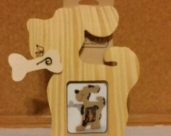 SALE - Craftwood Darice 9163-32 Wood Frame Dog with dowel