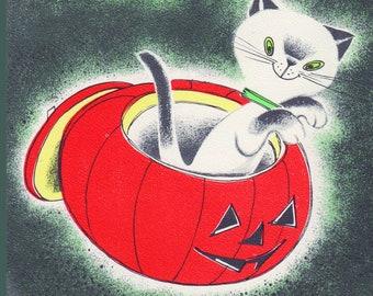 Vintage Spooky Siamese Tile Coaster