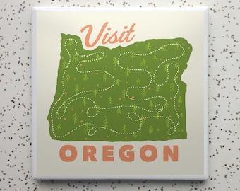 Visit Oregon Tile Coaster