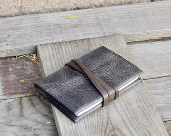 Travel Journal Small Pocket Notebook /  Leather Journal / READY TO SHIP / 4.5 X 3.25 lined notepad / Pocket Journal / Refillable Journal