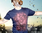 1AEON METAL Navy color mens t-shirt - size L