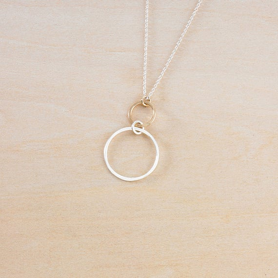 Open Ring Necklace Gifts For Women Birthday Gift Gold Ring Etsy