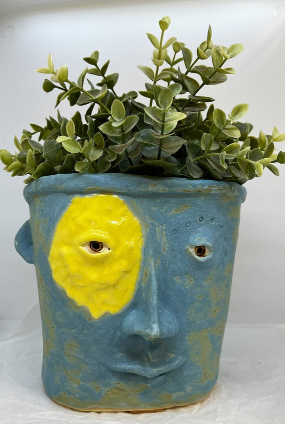 Face Planter - blue with yellow accent - Free US Shipping