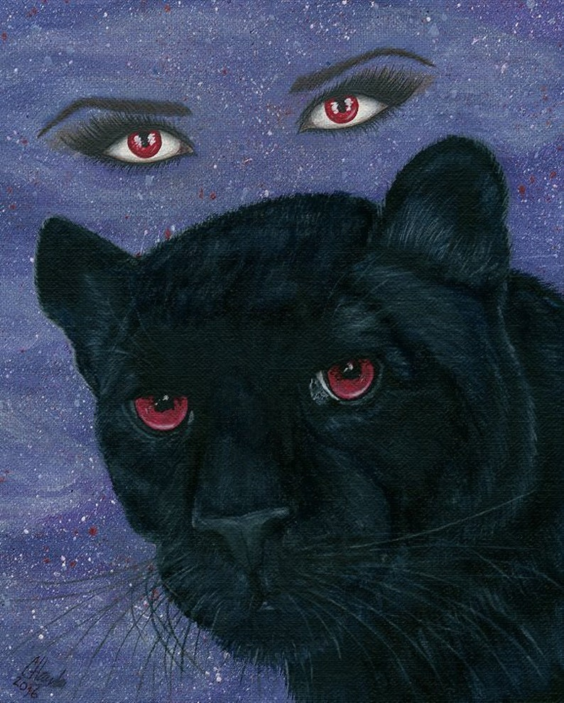 Carmilla Black Panther Vampire Victorian Red Eyes Penny image 0