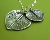 Mother and Child Aspen Leaf Necklace