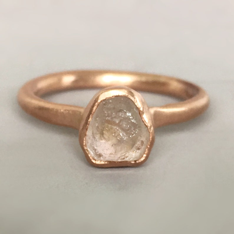 aeae75800 Raw Montana Sapphire Engagement Ring Light Peach Pink Rough | Etsy