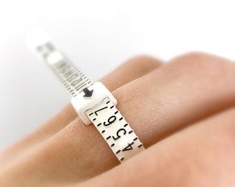 Ring Sizer, Adjustable Plastic Ring Size Finder