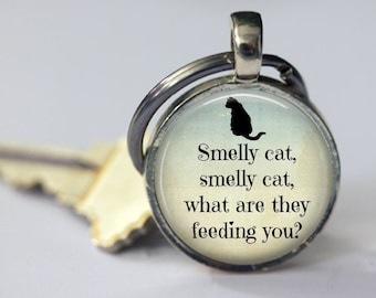 Smelly Cat - Key Chain - 25mm Round