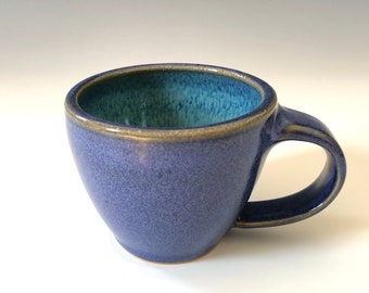 One Mini Mug - Midnight and Teal Pottery