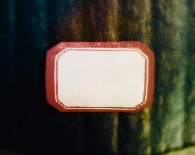 10pcs DENNISON GUMMED LABELS Vintage Bordered Seals Stickers Old Stock No. 209