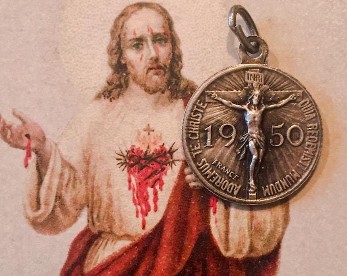 1950 HOLY YEAR JUBILEE Vintage Religious Medallion Vatican Souvenir