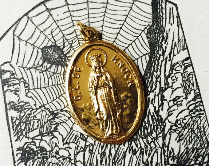 LADY OF KNOCK Vintage Religious Medal Virgin Mary