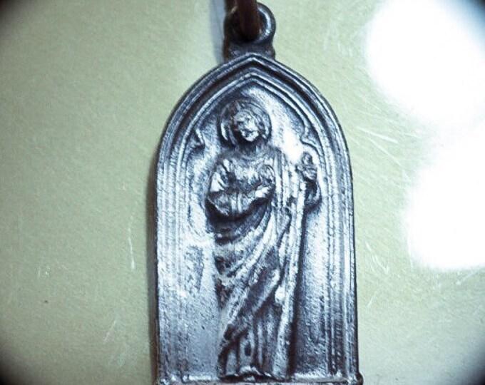 Vintage ST. JUDE MEDAL Sacred Heart