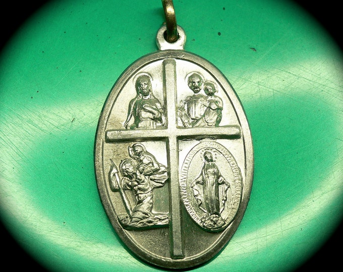 CALL A PRIEST Vintage Religious Medal In Case Of Accident Call A Priest
