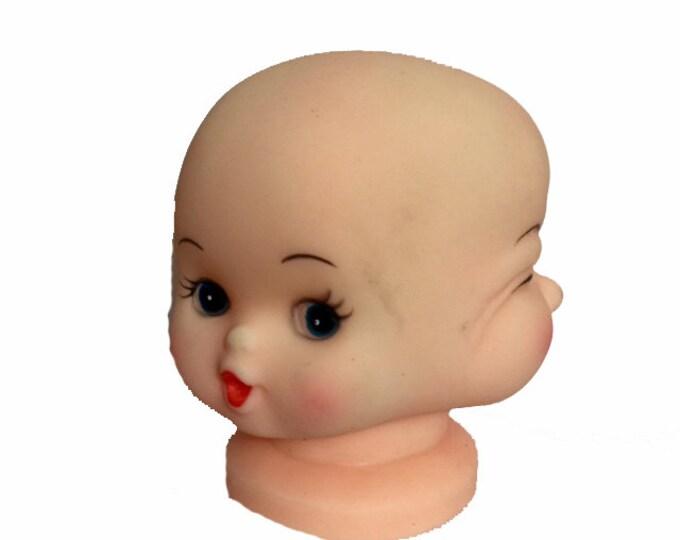 VINTAGE DOLL HEAD Three Faces Doll Head Triple Expression Doll Head Creepy Doll Head Odd Doll Curio