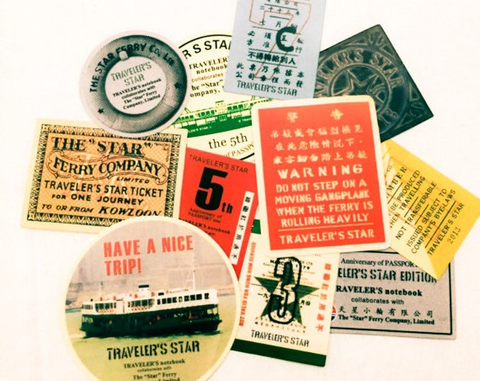 11pcs RETRO TRAVEL STICKERS Vintage Ferry Pass & Tickets
