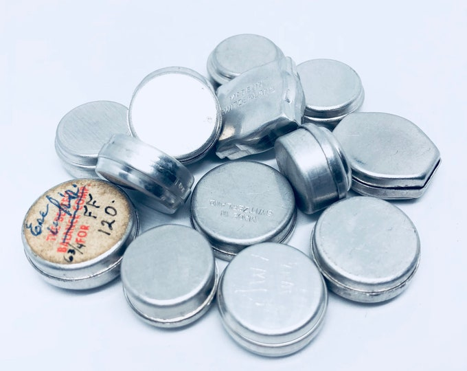 1pc TINY METAL TIN Vintage Super Small Watch Part Container Size A