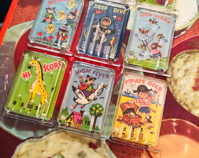 1pc VINTAGE PINBALL PUZZLE 1970s Cracker Jack Prize Plastic Dexterity Game Old School Childhood Treasures Your Pick