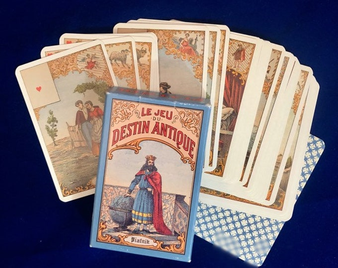 AUSTRIAN TAROT DECK Le Jeu Du Destin Antique Oracle Deck Aufschlagkarten Cartomancy Gypsy Cards Fortune Telling Deck Vienna