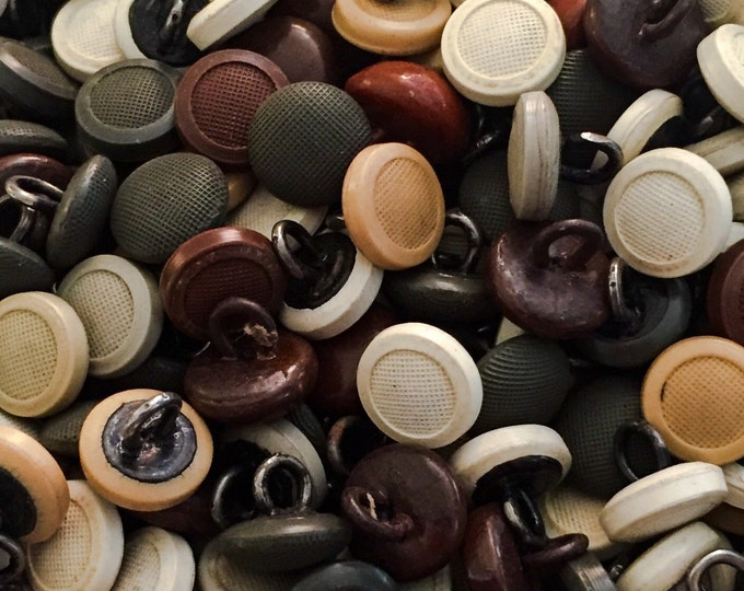 25pcs ANTIQUE SHOE BUTTONS Tiny Vintage Assorted Celluloid Old Stock