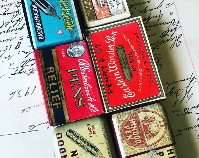 1box OLD STOCK NIBS Vintage + Antique Full Boxes Most Sealed Many Brands Origins Drawing Lettering Handwriting Dip Pen Nibs