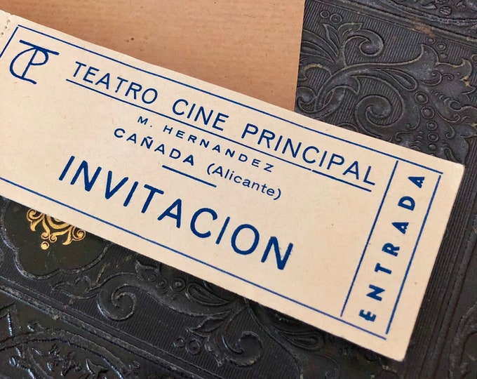 90pcs VINTAGE THEATER TICKETS Spain Teatro Cine Principal Cañada Old Tickets Genuine Paper Ephemera Vintage Ticket Book Vintage Tickets Lot