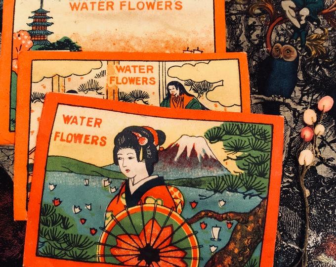 1pkg JAPANESE WATER FLOWERS Vintage Occupied Japan Penny Toy