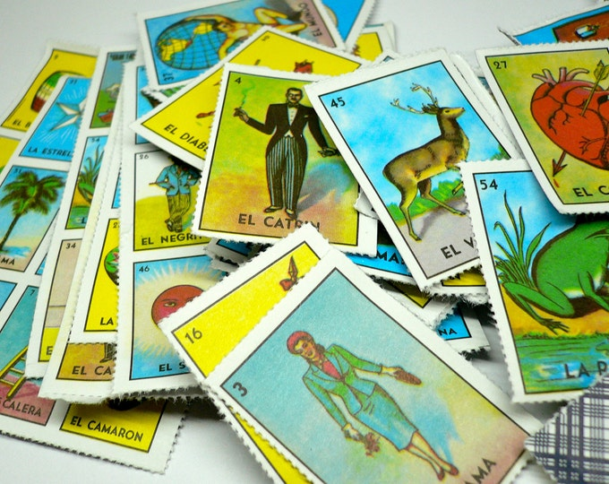 42pcs MINIATURE LOTERIA CARDS Tiniest Complete Game
