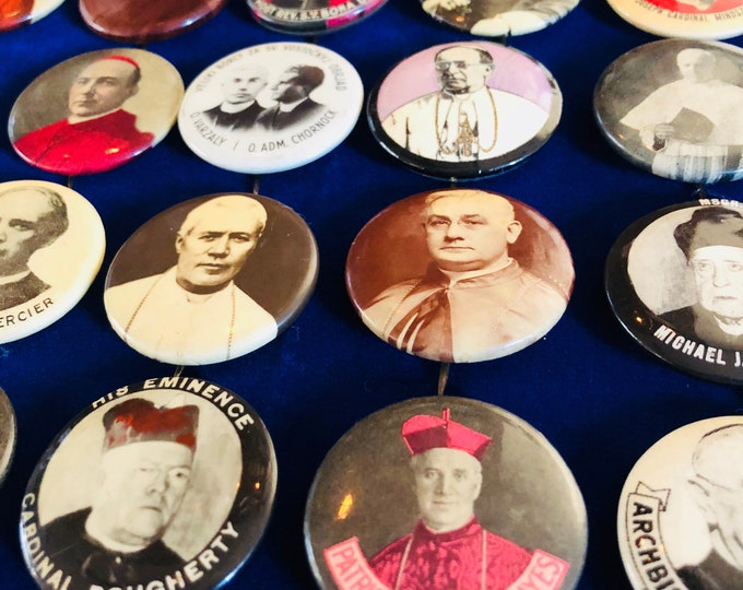HOLY MEN PINS Vintage & Antique Religious Souvenirs Your Pick