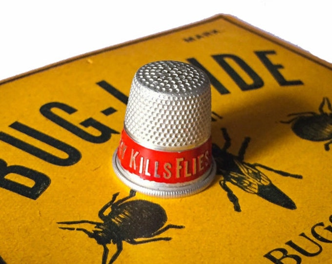 1930s FLY KILLER THIMBLE Tin Premium