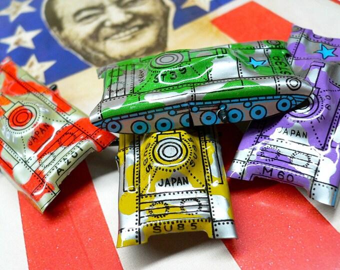 4pcs TINY VINTAGE TANKS Tiny Litho Toys Japan
