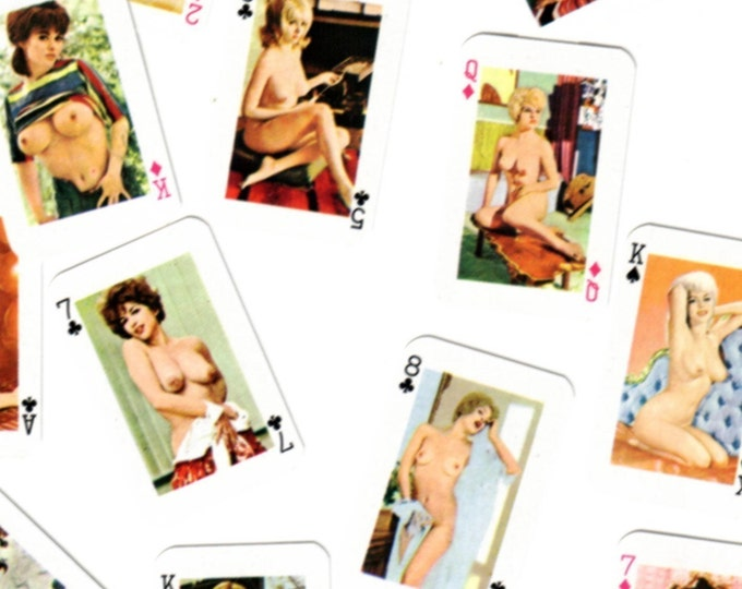 10pcs 60s Vintage Tiny Nude RISQUE CARDS Retro MATURE