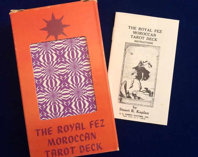 VINTAGE MOROCCAN TAROT Deck 1975 The Royal Fez Moroccan Tarot Deck Stuart R. Kaplan Vintage Complete Deck Excellent Condition Super Rare