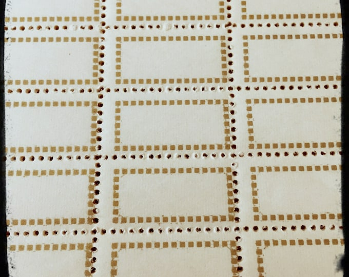 14pcs VINTAGE GUMMED LABELS European Small Gold Perforated Stickers Seals Lot