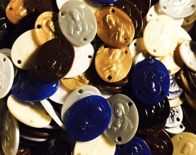 10pcs VBS ROSARY CENTERS Sturdy Mission Plastic