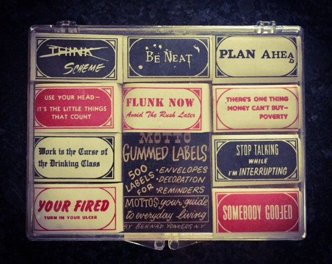 50pcs RETRO HUMOR STICKERS Vintage Mottos Your Guide To Everyday Living