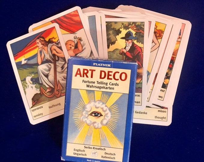 VIENNA ORACLE CARDS Wahrsagekarten Gypsy Cards Art Deco Fortune Telling Divination Tarot Deck