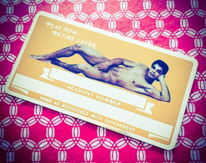1970s NUDE IDENTIFICATION CARD Vintage Play Now Retire Later Mature Style D