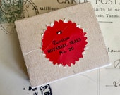 1pkg VINTAGE DENNISON SEALS Red Legal Gummed Seals Original Box Notary Labels Stickers 45 Pieces No. 20