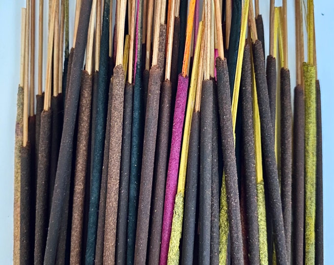 40+ MYSTERY INCENSE MIX Quality Sticks Meditation Aid Cleansing Smoke Intoxicating Scents Hand Rolled Lovely Home Fragrance Lucky Dip