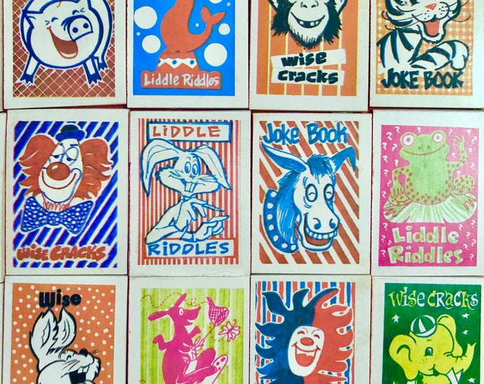 1pc VINTAGE JOKE BOOK 1970s Cracker Jack Prize Wise Cracks Liddle Riddles Old School Childhood Treasures Your Pick