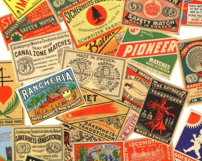 10pcs 1890s-1920s  EUROPEAN MATCHBOX LABELS Antique