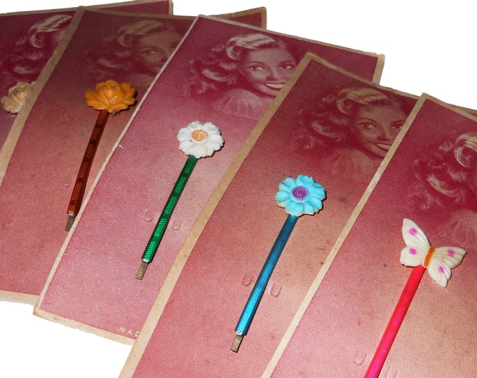 1940s GORGEOUS HAIR PINS Vintage Germany