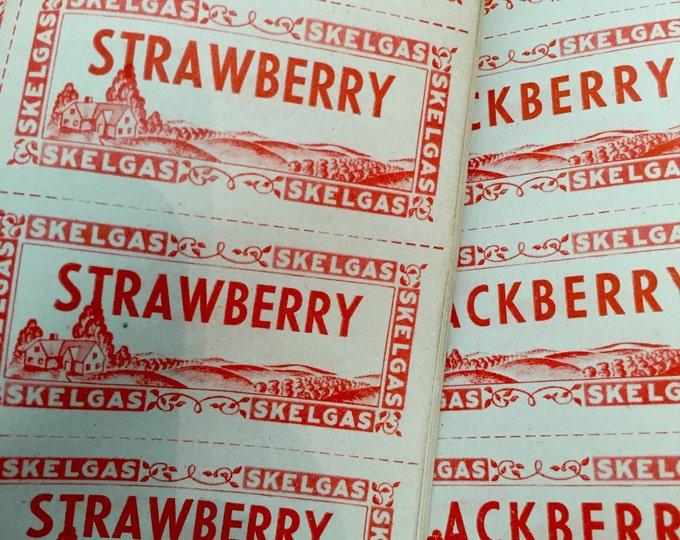 15pcs VINTAGE CANNING LABELS Strawberry Blackberry Pear Raspberry Grape Currant Plum Peach Cherry Corn Peas Beans Tomato