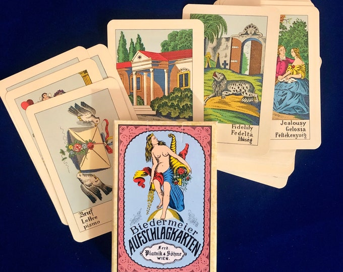 BIEDERMEIER TAROT DECK Oracle Deck Aufschlagkarten Cartomancy Gypsy Cards Fortune Telling Deck Vienna