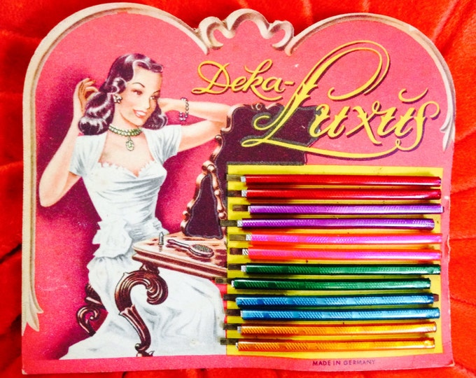 1940s VINTAGE HAIR PINS Gorgeous Multicolored Germany