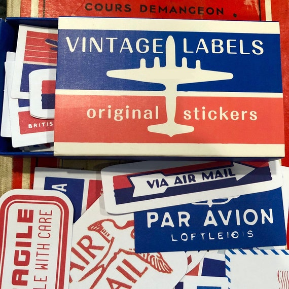 5 Label per Lot NOS Vintage Collectible AIR MAIL No.29 Stickers