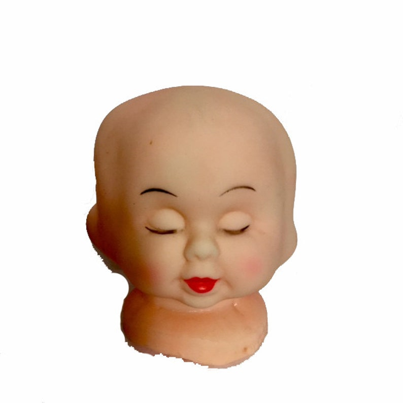 Vintage TRIPLE FACE DOLL Head Fantastic
