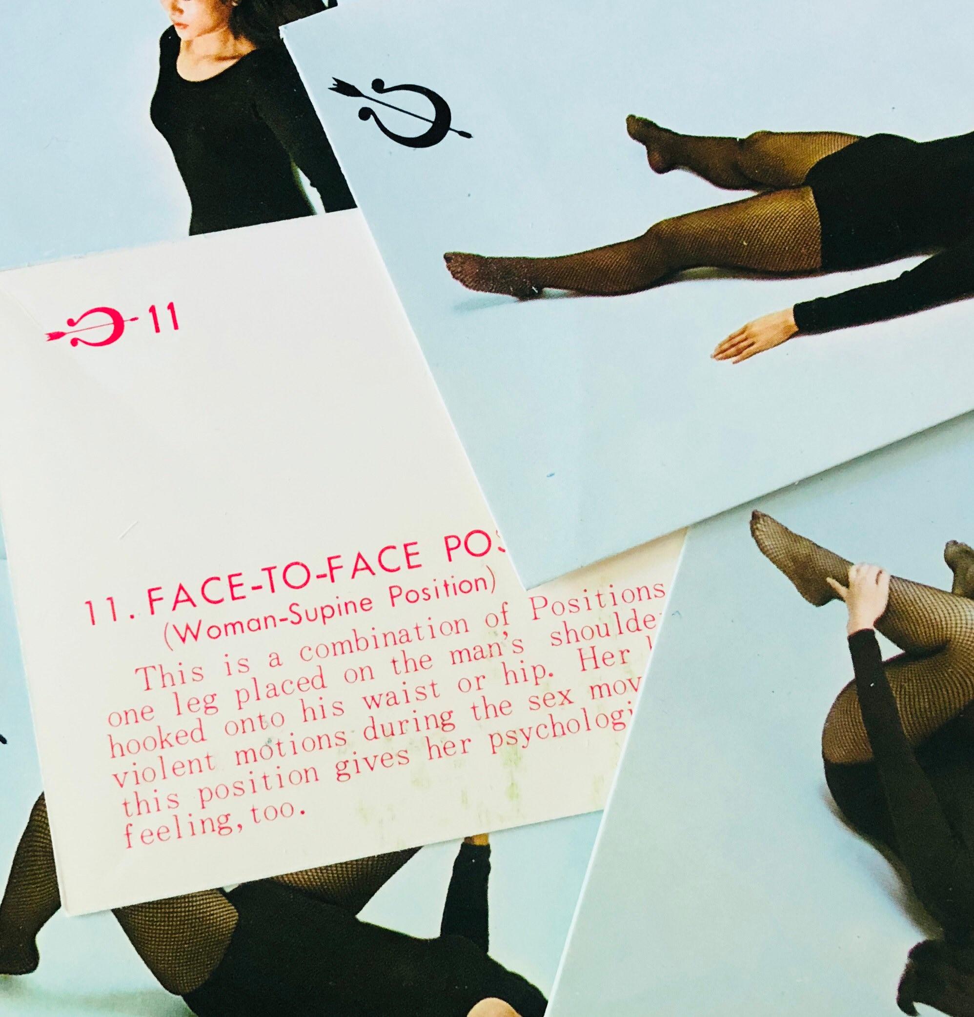 5Pcs Sex Position Cards Vintage Japanese Model Risque Ephemera Sex Positions Vintage -5446