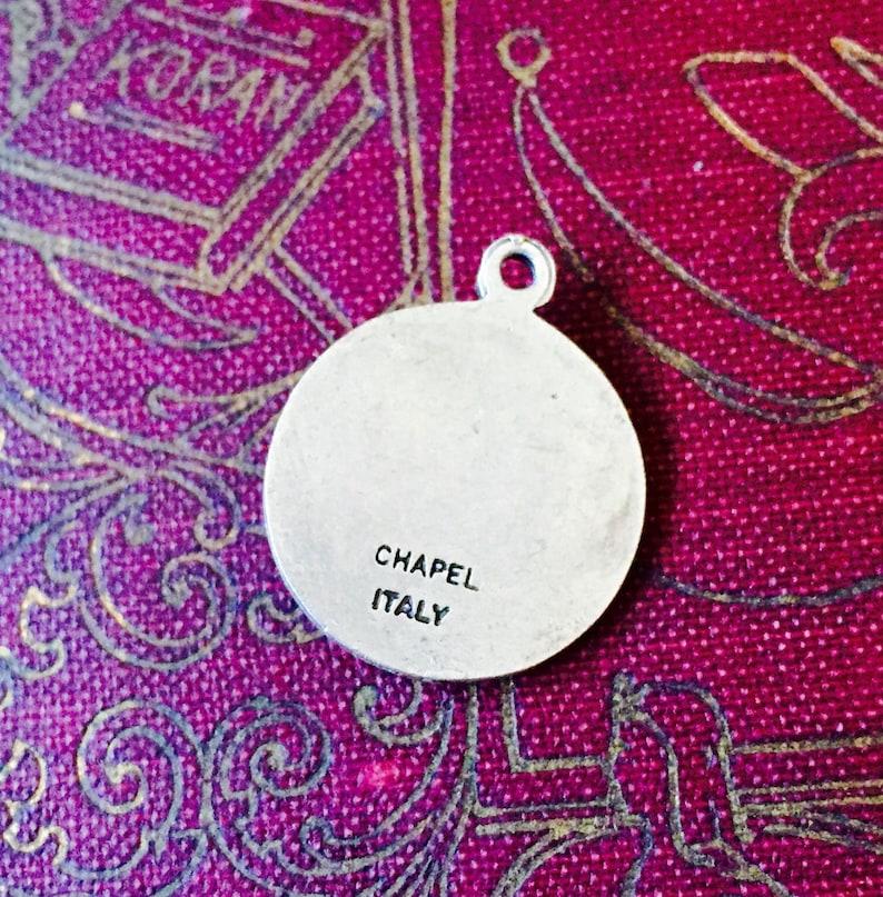SAINT CHARLES MEDAL Vintage Relgious Medallion Chapel Italy Patron of Seminarians